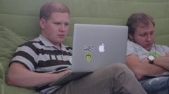 Students with laptops.(computer, internet, social network) Stock Footage