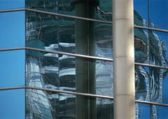 Window panes, close-up - stock photo