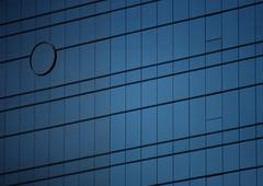 Window panes on building's facade, close-up Stock Photos