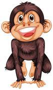 Chimpanzee Stock Illustration