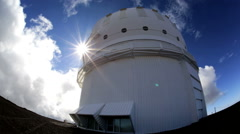 Stock Video Footage of White Domed Space Observatory Building Research Images Terrestrial Celestial