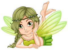 Gree fairy - stock illustration