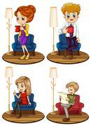 Stock Illustration of Adult set