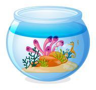 Fish tank - stock illustration