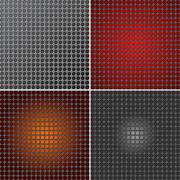 Set of metal mesh texture background Stock Illustration