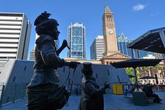 Stock Photo of king george square brisbane - queensland australia