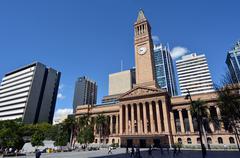 Stock Photo of brisbane city hall - queensland australia