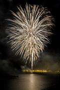 Fireworks to celebrate the day of mercy 2014 in barcelona Stock Photos