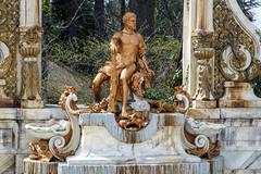 La granja. source statue of hercules Stock Photos