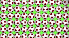 Stock Video Footage of Albania soccer balls on green background