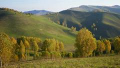 Stock Footage Time Lapse of Grasy Hills in Autumn Daw Stock Footage
