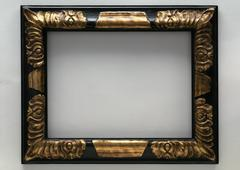 Frame with gilding, close-up - stock photo