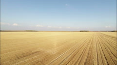 Aerial Stock Footage Agricultural field after Harvest Stock Footage