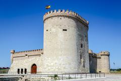 castle of arevalo in avila - stock photo
