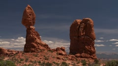 Arches National Park Balanced Rock Stock Footage