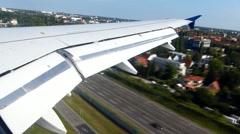 Airplane landing - stock footage