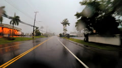 POV Coastal drive Tropical Cyclone Hilo Hawaiian Islands Pacific - stock footage