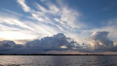 Lake Bemidji Time lapse at dusk.mp4 Stock Footage