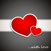 Valentine`s Day background with hearts - stock illustration