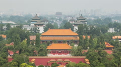 Time lapse looking north from Jingshan Park in Beijing towards Shichahai Stock Footage