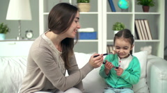 Tickling Touch Stock Footage