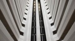 Glass  elevator. HD Stock Footage