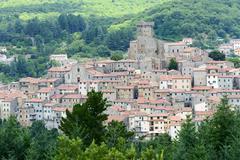arcidosso (tuscany, italy) - stock photo