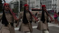 Athens Greece Parliament Changing of the Guards HD 3369 Stock Footage