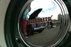 Studebaker Hub Cap Reflection Stock Footage