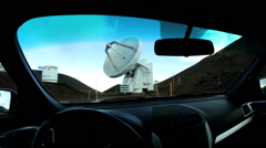 POV Driving Astronomical Very Large Array Research Facility Satellite Telescope - stock footage