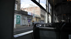 View from a tram Krakau, Cracow, Poland Stock Footage