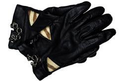 Black leather gloves Stock Photos