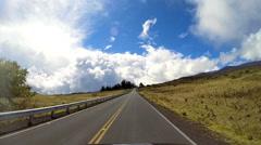POV drive Mt Mauna Kea volcanic Mountain Hawaii Archipelago USA Stock Footage