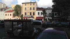 Krakau, Cracow, Poland, Kazimierz Stock Footage