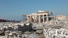 Athens Greece Ancient Acropolis Parthenon hill tour fast HD 3347 Stock Footage