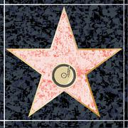 Stock Illustration of hollywood music walk of fame