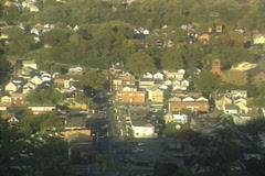 Small Town Establishing Shot from Above - stock footage