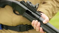 Shoot gun Stock Footage