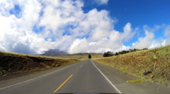 POV driving Mt Mauna Kea Mountain Big Island Hawaii USA Stock Footage