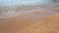 Coast of the Adriatic Sea close up Stock Footage