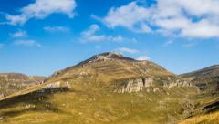 Mountain peak in Bucegi mountains on sunny day Stock Footage