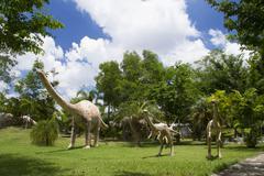 dinosaur museum - stock photo