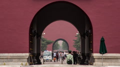 Time lapse of Tiananmen Gate and entrance to the Forbidden City in Beijing Stock Footage