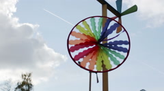 Multi-colored pinwheel Stock Footage