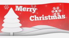 merry christmas seamless video loop - stock footage