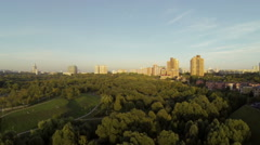 View of the city. - stock footage