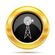 Classic windmill icon Stock Illustration