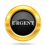 urgent icon - stock illustration