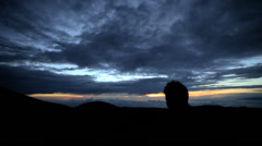 Male Sunset Mt Mauna Kea Big Island Hawaii Stock Footage