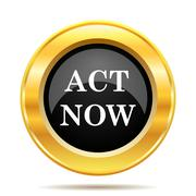 act now icon - stock illustration